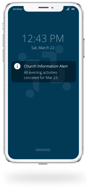 Mobile Phone with notification